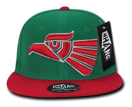 Gorra Whang - Hecho En Mexico Aguila - Snapback Verde/rojo