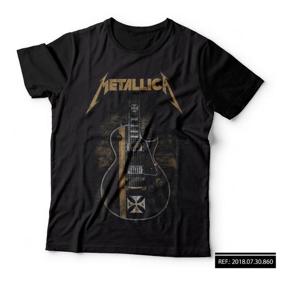 Camisa Camiseta Estampada Metallica Rock Metal