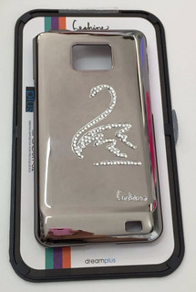 Capa Case Acrílica Feminina Prateada Samsung Galaxy S2 I9100