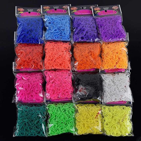 Rainbow Fun 10.000 Elásticos P/ Pulseiras Coloridas Infantil + Fechos S