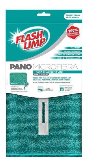 Pano Com Furo Microfibra Para Chão Flash Limp 50 X 60cm 6735
