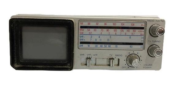 Rádio Tv Portátil Am/fm Broksonic Cirt-2097 Semi-novo