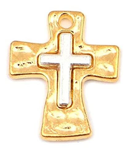 Imagen 1 de 3 de Dijes Y Medallas - Colgantes De Cruz (10 Unidades)