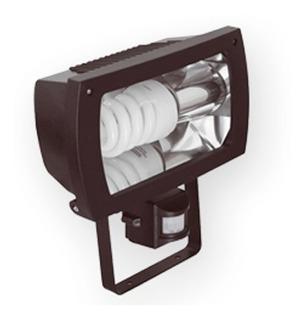 Pack De 4 Reflector Apto Led E27 Ext C/sensor C/ Lampara