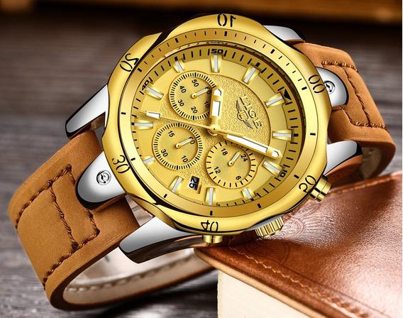 Relógio Pulso - Lige Fashion E Casual 42mm - Em Estoque