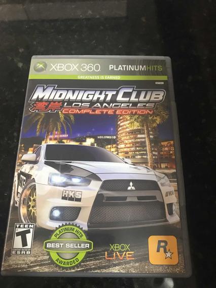 Jogo Xbox 360 Midnight Club Los Angeles Original Física
