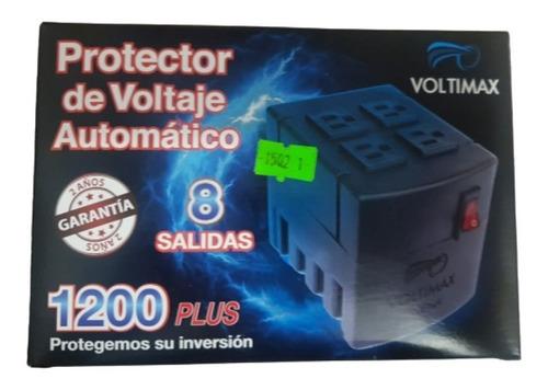 Regulador De Voltaje 1200va Voltimax - 8 Tomas Protegidas