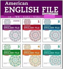 Coleção American English File Second Edition Completo