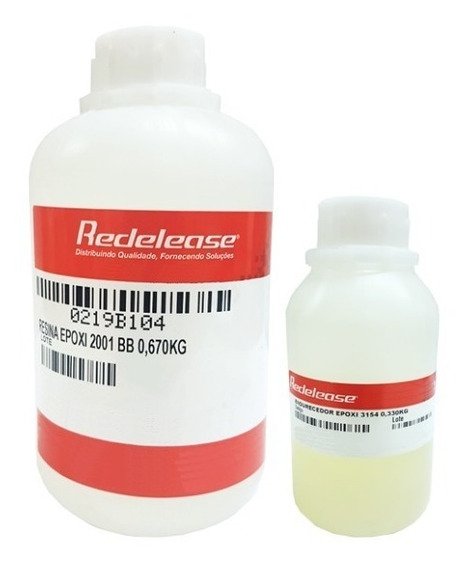 Resina Epoxi Cristal P/ Vidro Líquido Artesanato Kit 1kg