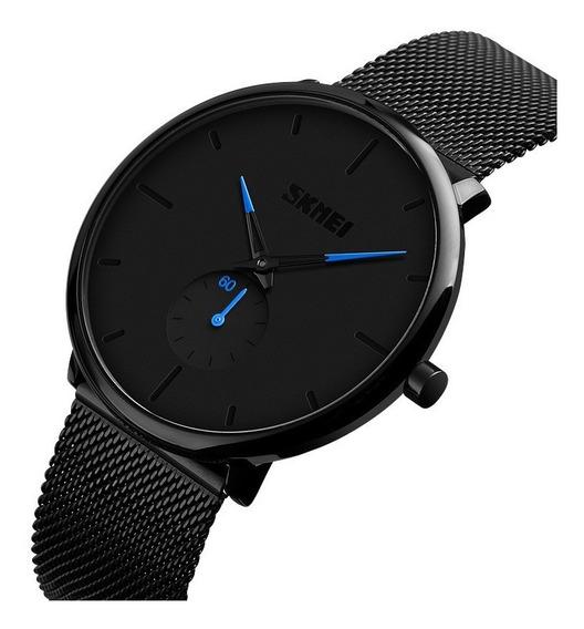 Reloj Skmei 9185 Hombre Elegante Acero Inoxidable 4colores S