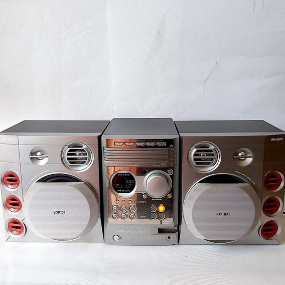 Micro System Philips Mcm 590 Precisa Reparo Legít 125 Watts