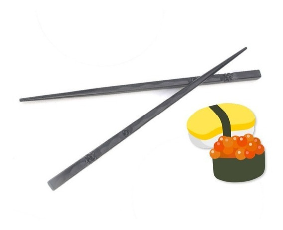 Palillos Chinos Metálicos Reutilizables Sushi Chopstick Xt P