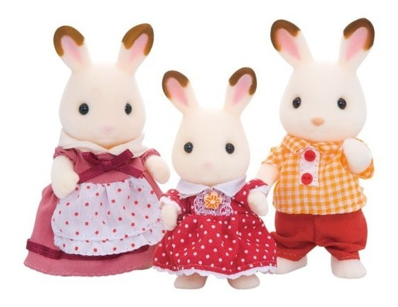 Sylvanian Families - Chocolate Rabbit Family (5304)