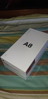 Samsung Galaxy A8 En Caja, Impecable Y Con Neón Case!!