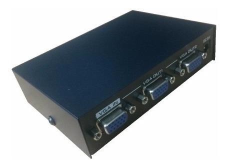 Divisor Vga 2 Portas Monitor Repetidor Distribuidor Splitter