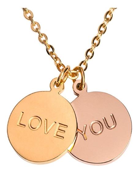 Luckyly Collares De Mujer Te Amo, Acero Inoxidable Plata/oro