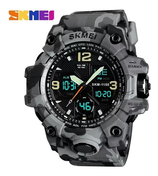 Relógio Camuflado Cinza Estilo G-shock Prova D