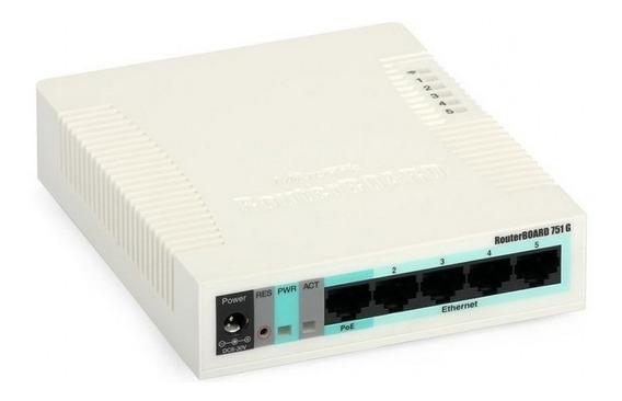 Router Mikrotik Rb951 Ui-2hnd 5 Wifi 2.4g 10/100 Usb Fuente