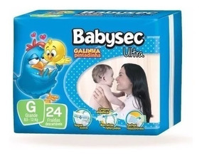 Kit 6 Fraldas Babysec Ultrasec Atacado Revenda Barato G
