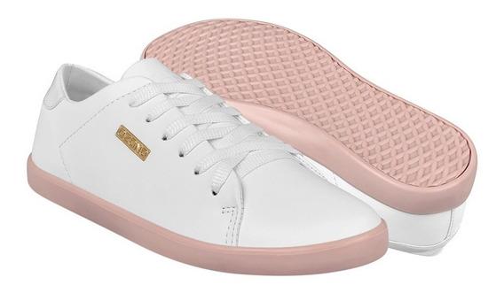 Tenis Casuales Para Dama Capa De Ozono 372923-2 Bco/rosa