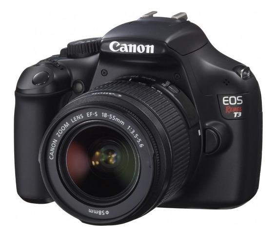 Camera Canon T3 Corpo + Lente De Brinde