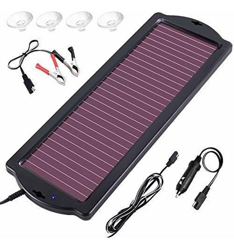 Zeal Life Cargador Solar Para Automóvil 12v 1.8w Cargador De