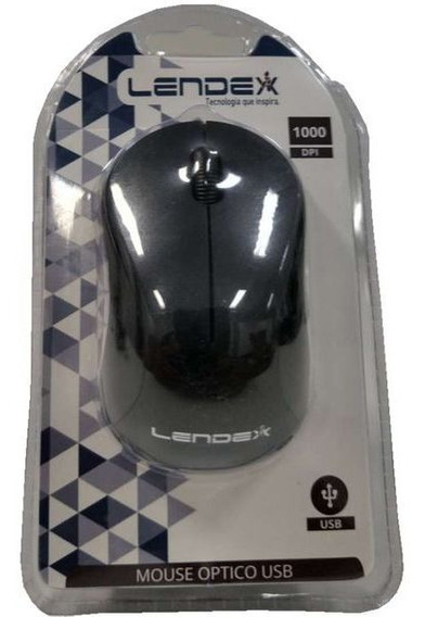 Mouse Usb Lendex 1000 Dpi Preto E Prata Ld-mom106