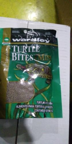 Imagen 1 de 1 de Wardley Mini Turtle Bites 90 Grs Alimento Tortugas Crecimiento Desarrollo Bienestar Salud