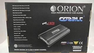 Amplificador Monobloque Clase 1 De 1 Ohmio Orion Cb2500.1d