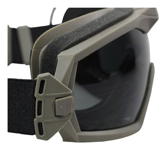 Goggles Con Ventilador Googles Tácticos Anti-vaho Caza Tiro