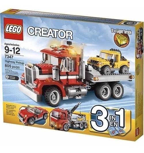Lego Creator Caminhão De Transporte De Veículos 7347