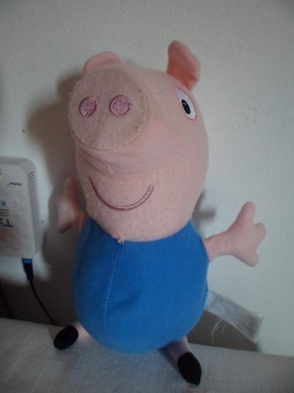 Pelúcia George Pig Porquinho Irmão Da Peppa Original Estrela
