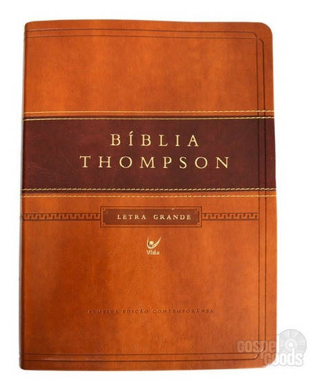 Biblia Thompson De Estudo Letra Grande Luxo Marrom