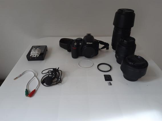Câmera Nikon D3100 E Lentes - Usada