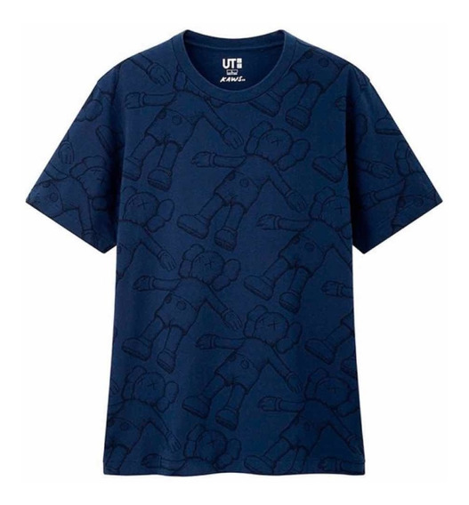 Playera Tshirt Kaws X Uniqlo Summer Collection Azul Original