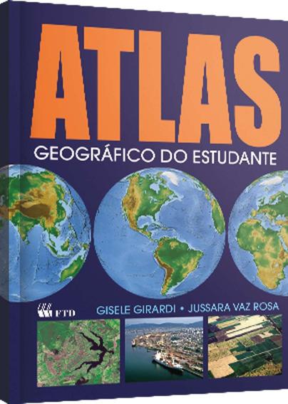 Livro Atlas Geografico Do Estudante 160pgs F.t.d. Unidade