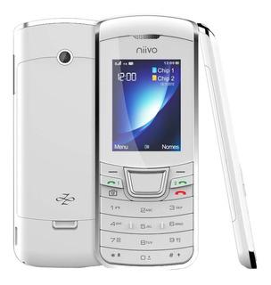 Celular Niivo Zb1 Bluetooth Radio Fm Mp3 Mp4 Branco | Novo