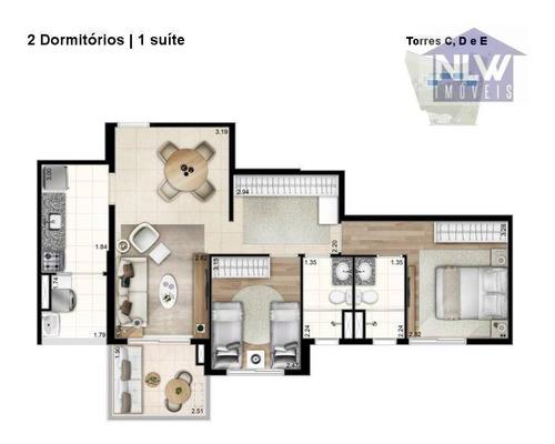 Apartamento Com 2 Dormitórios À Venda, 73 M² Por R$ 517.600,00 - Portal Do Morumbi - São Paulo/sp - Ap0228
