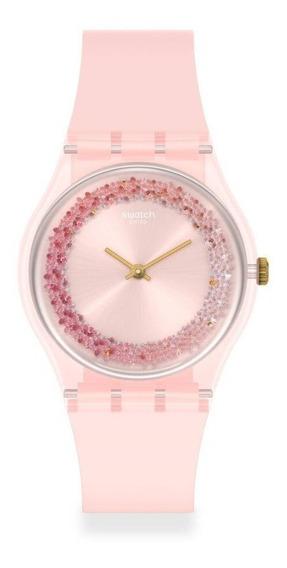 Reloj Swatch Mujer Kwartzy Gp164 Rosa