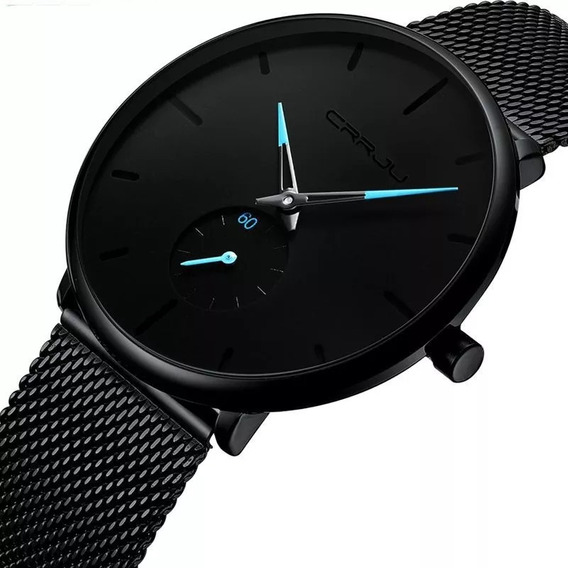 Relógio Masculino Crrju Esportivo De Luxo Preto Original