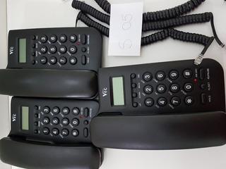 Telefone Mesa C/ Bina Preto I 46 Vec Kit 04 Aparelhos