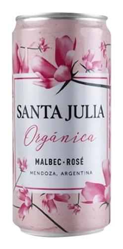 Vino Santa Julia Organica Malbec Rose Lata 269ml X6