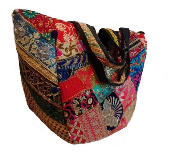 Bolso Hindu Cartera Colorfull Patchwork Mujer
