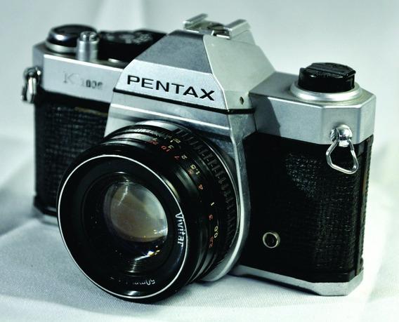 Câmera Fotográfic Antiga Pentax K1000 Decorativ Lent Vivitar