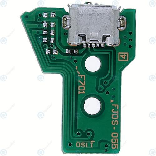 Placa Carga Pin Joystick Ps4 Jds 055 + Flex Sin Cargo