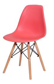 Cadeira De Jantar Charles Eames Eiffel New Wood Base Madeira