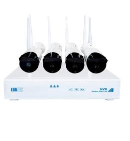 Kit 4 Câmera Ip Wireless Infravermelho 720p Hd Dvr/ Nvr Wif