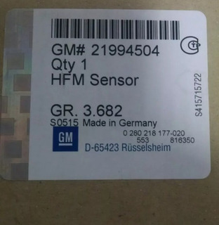 Sensor Maf Captiva Original Gm