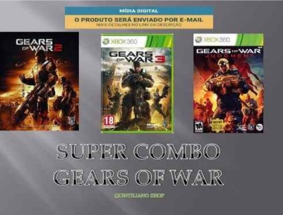 Gears Of War Combo 3×1 Xbox 360 E Xbox One Mídia Digital
