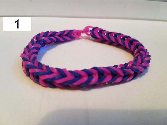 Pulseira Elastico 1 - Rainbow Loom Lote Com 7 Unidades Moda